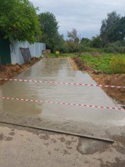 Готовая бетонная площадка